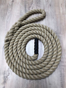 """Gym Climbing Rope -  Synthetic Hemp with 10"""" Splice - Various Sizes/Lengths"""