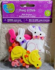 Darice Felties Easter Stickers: Bunnies & Chicks in Spring Colors - 16 Pieces