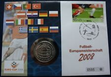 Deutschland Numisbrief Fussball EM 2008 Münze 10 EUR SILBER 2005
