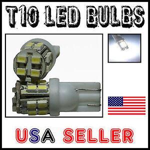 2X T10 5 SMD White LED Parking City Lights Bulbs headlights corner bumper 6K LED