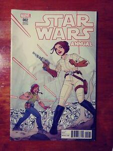 STAR WARS ANNUAL #2 COVER B MARVEL COMICS (2016) PRINCESS LEIA