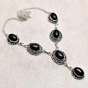 Black Onyx Ethnic Handmade Necklace Jewelry 31 Gms AN 92140
