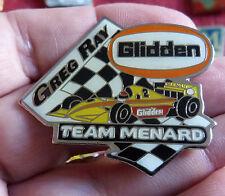 RARE PIN'S COURSE USA INDY CAR IRL F1 PILOTE GREG RAY TEAM MENARD GLIDDEN