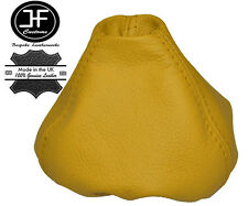 YELLOW LEATHER MANUAL GEAR STICK GAITER SHIFT BOOT FOR FIAT 500 ABARTH 2007-2015