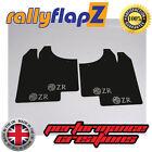 rallyflapz ROVER MG ZR (01-05) Hatchback PARASPRUZZI NERO 3mm PVC LOGO ARGENTO