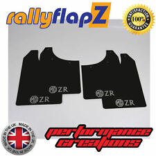 rallyflapZ ROVER MG ZR (01-05) Hatchback Mud Flaps Black 3mm PVC Logo Silver