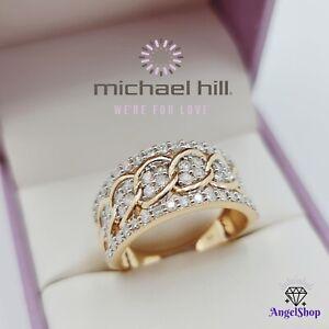 MICHAEL HILL 10ct Gold Diamond Ring 1.00ct Size O - 7.5 MHJ 10K