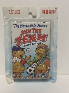 Berenstain Bears: Join the Team (2000) Vintage Jumbo Playing Cards NEW!!