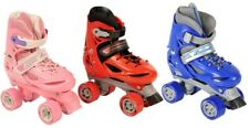 NEW RETRO BOYS GIRLS ROLLER SKATES KID ADJUSTABLE 4 WHEEL QUAD BOOT ADULT WOMEN