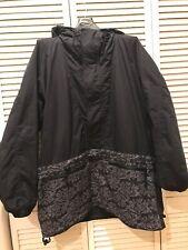 EUC Burton Black Gray Universe Snowboard Jacket 3/4 Pullover Winter Ski Snow
