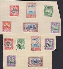CEYLON 307-12 set  mint & used 1950