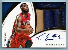 TYREKE EVANS 2014/15 PANINI IMMACULATE COLLECTION 2 COLOR JUMBO PATCH AUTO /25