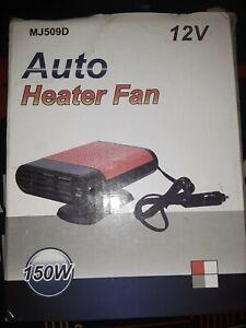 AUTO HEATER FAN 150 W MJ509D 12V CAR OR TRUCK HEAT OR FAN WINTER. NEW OPEN BOX