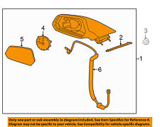 Chevrolet GM OEM Camaro Outside Mirrors-Door-Mirror Assembly Right 92247464