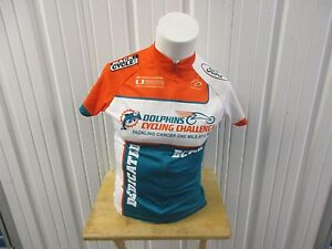 PRIMAL MIAMI DOLPHINS LARGE WOMEN'S CYCLING FULL ZIPPER RACE JERSEY 100% POLY