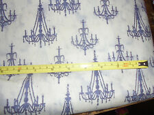 French Couture Emily Adams Wild Apple Fabric chandeliers 3 yards NEW fabric chic