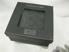 Oleg Cassini Crystal Coaster Set (4) Pure Square Cut