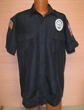 Mens Security Guard Uniform Shirt US Security Associates Black Sz 16.5