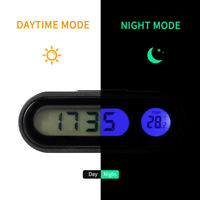 Multifunctional Small Digital LCD Display Blue Backlight Car Clock Thermometer D