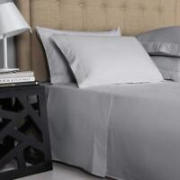 800/1000/1200 TC Egyptian Cotton UK Bedding Items All Sizes Silver Grey Solid