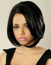 ELLIE | Negro | natural moda elegante Idol 101 | Encaje Frente Peluca Corta Sintética