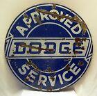 VINTAGE DODGE CAR OLD PORCELAIN ENAMEL SIGN OLD AMERICAN SIGN DOUBLE SIDED RARE