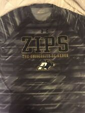 Under Armour Heat Gear Loose Fit Mens Large Akron Zips Logo Tshirt