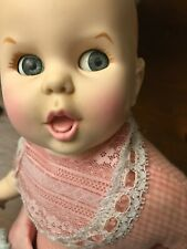 Baby Gerber Doll with Pink Lace Bib and Skirt 1979