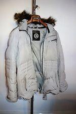 Napapijri Damen Mantel Jacke grau Winterjacke  Daunenjacke Entendaunen XL Daunen