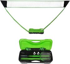Lonabr Portable Badminton Net Set Volleyball Tennis Ball Sports Game Stand Case