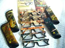 """MEN'S READING GLASSES """"CAMOUFLAGE"""" W/ CASE CAMO (1.00-3.50)( BBR-24) ~ CLOSE-OUT"""