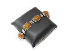 Bernstein,Amber,Fischland Silber 835,Armband,Schmuck,Bracelet,Vintage,Damen