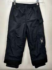 Spyder Black Winter Snow Ski Pants Boys Girls Size 4 Small To Tall Waterproof Xt