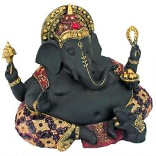 "14"" India Hindu god of Power, Peace & Wisdom Fat Belly Ganesha Prosperity Statue"