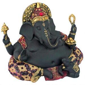 "14"" India Hindu god of Power, Peace & Wisdom Fat Belly Ganesha Prosperity Statue"