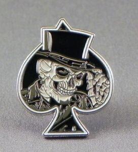 Skull Ace Pin Badges
