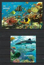 Niger 2015   Marine Life-Fish   MNH Miniature and Souvenir Sheet Set