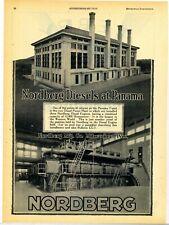 1928 Nordberg Diesel Engines Ad: Panama Canal Diesel Power Plant Interior Photo