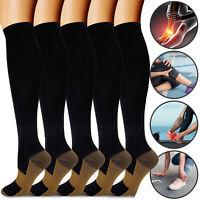 Copper Compression Socks Stockings 20-30mmHg Leg Graduated Support For Men Women
