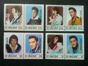 [SJ] St. Vincent Elvis Presley 1985 Famous Artist Singer (stamp) MNH *SPECIMEN