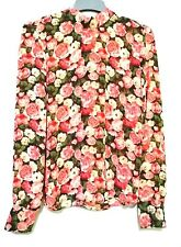 Forever 21 Floral Bow Neckline Longsleeve Top