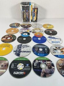 Wii U PS2 PS3 PS4 Game Cube Xbox 360 One Game Lot Wii Sports Super Smash (Read)