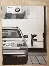2001 BMW  3er Touring Preisliste-Prospekt E46