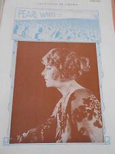 1919 Original Print Les étoiles du Cinéma Pearl White !!!