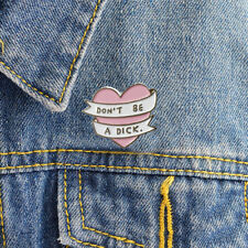 1Set Enamel Brooch Pins Tops Shirt Collar Pin Jacket Heart Shape Women Jewelry