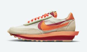 Nike LD Waffle SACAI x CLOT Net Orange Blaze DH1347-100 Size 11 In Hand