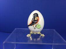 "Vintage Hummel Goebel, 1989 Oriole Bird on Egg, Tmk-6, 2"" x 3-1/4"""