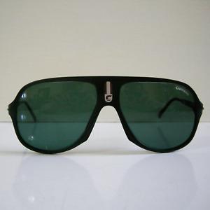 Vintage Carrera 5547 90 130 Sunglasses Black frame Green Lens Austria Soft Case