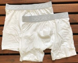 Jockey Men's 3D Innovations Boxer Trunk (2 Pack) - White - XL - 2215912P-100