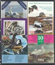 Canada 1989-1997 Duck Stamps in booklet (MNH) FACE $74.00